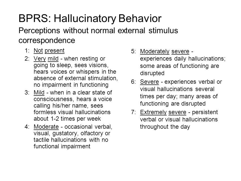 BPRS: Hallucinatory Behavior