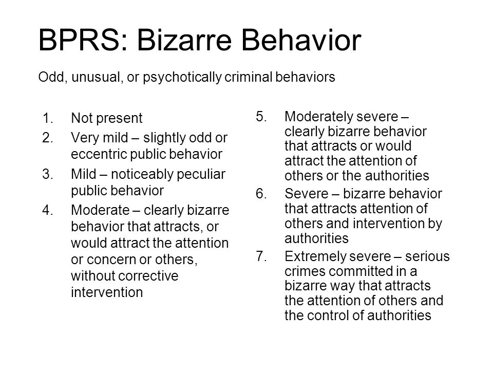 BPRS: Bizarre Behavior