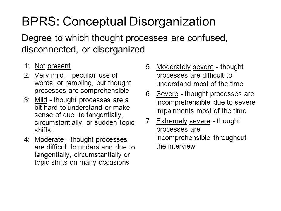 BPRS: Conceptual Disorganization