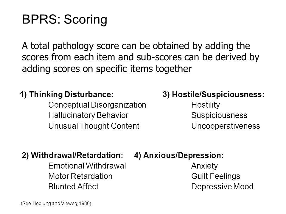 BPRS: Scoring