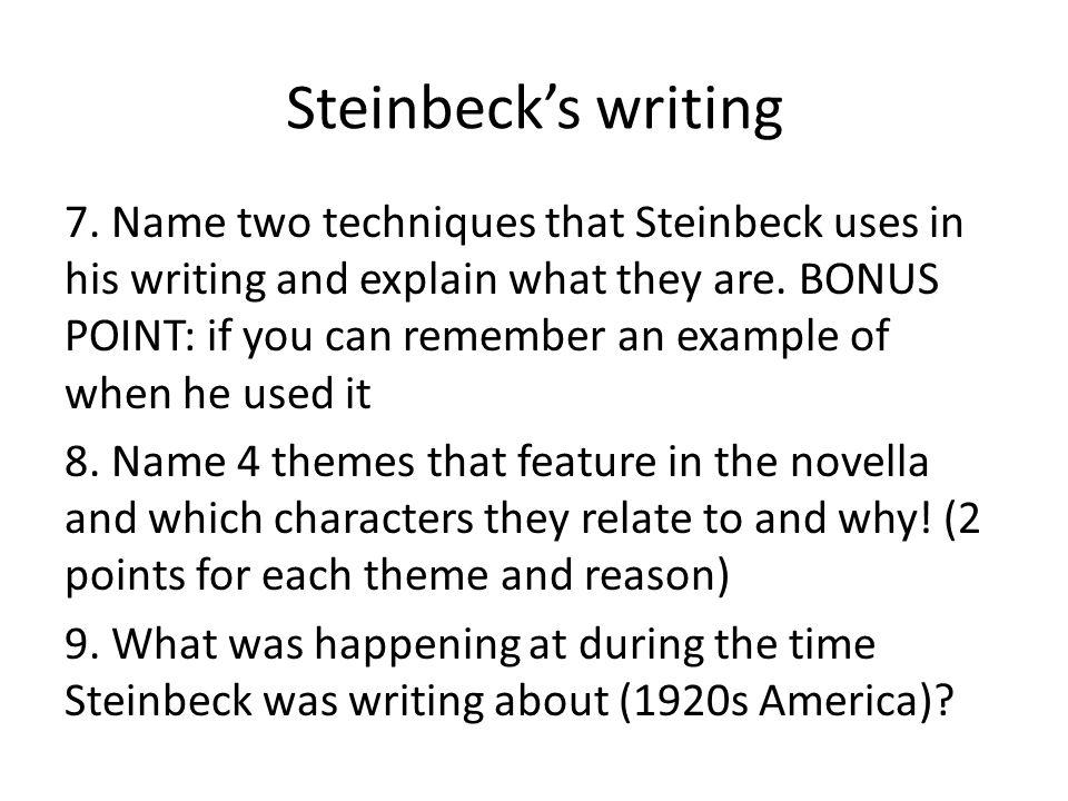 Steinbeck's writing