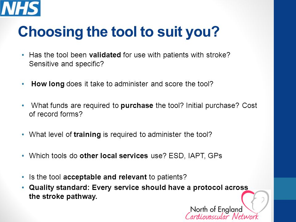 Choosing the tool to suit you