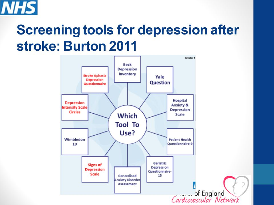 Screening tools for depression after stroke: Burton 2011