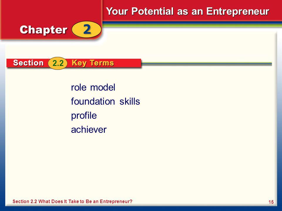 role model foundation skills profile achiever 2.2