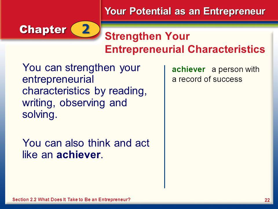 Strengthen Your Entrepreneurial Characteristics