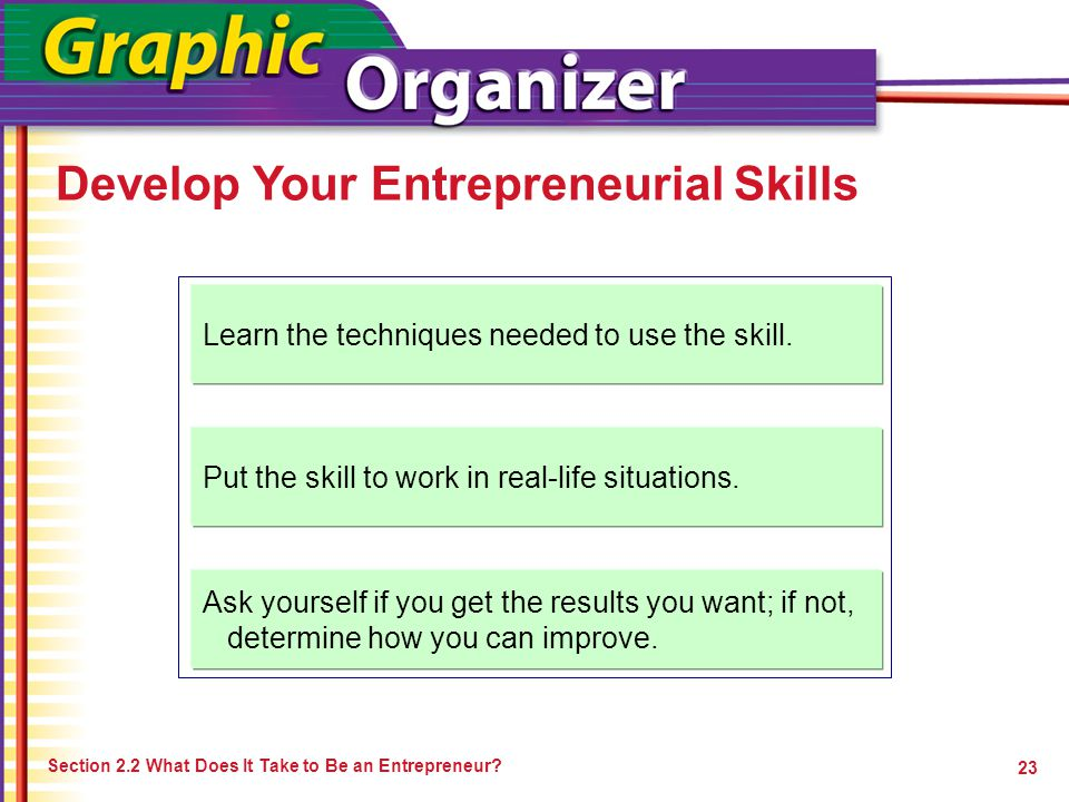 Develop Your Entrepreneurial Skills