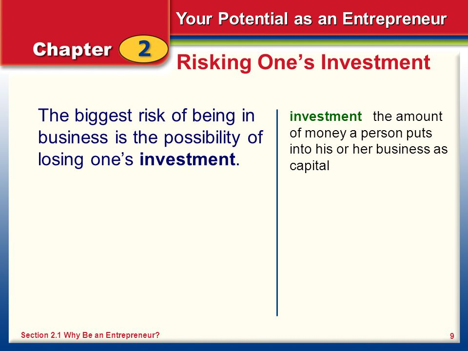 Risking One's Investment