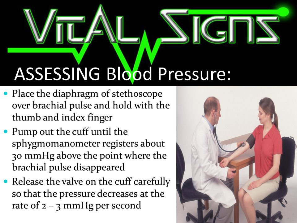 ASSESSING Blood Pressure: