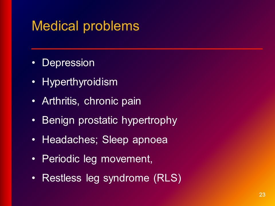 Medical problems __________________________