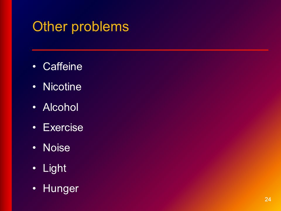 Other problems __________________________