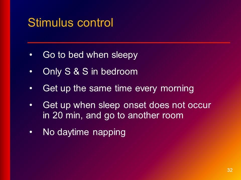 Stimulus control __________________________