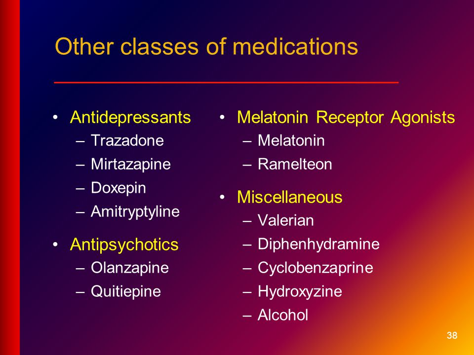 Other classes of medications __________________________