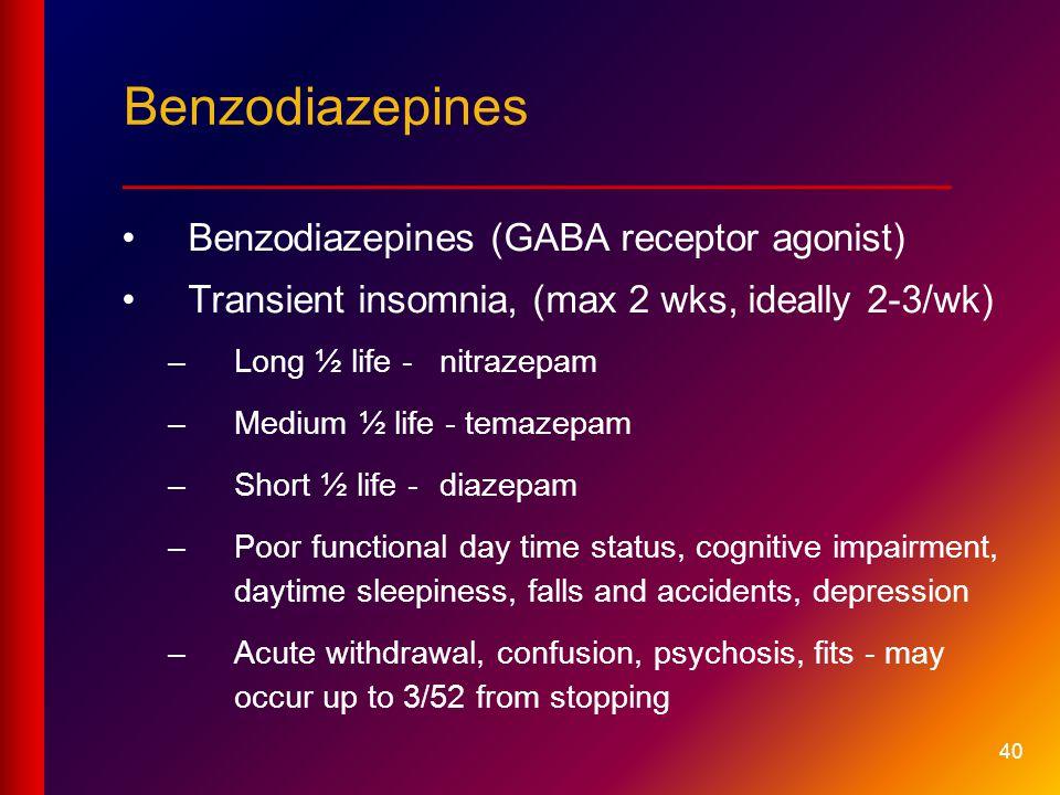 Benzodiazepines ____________________________