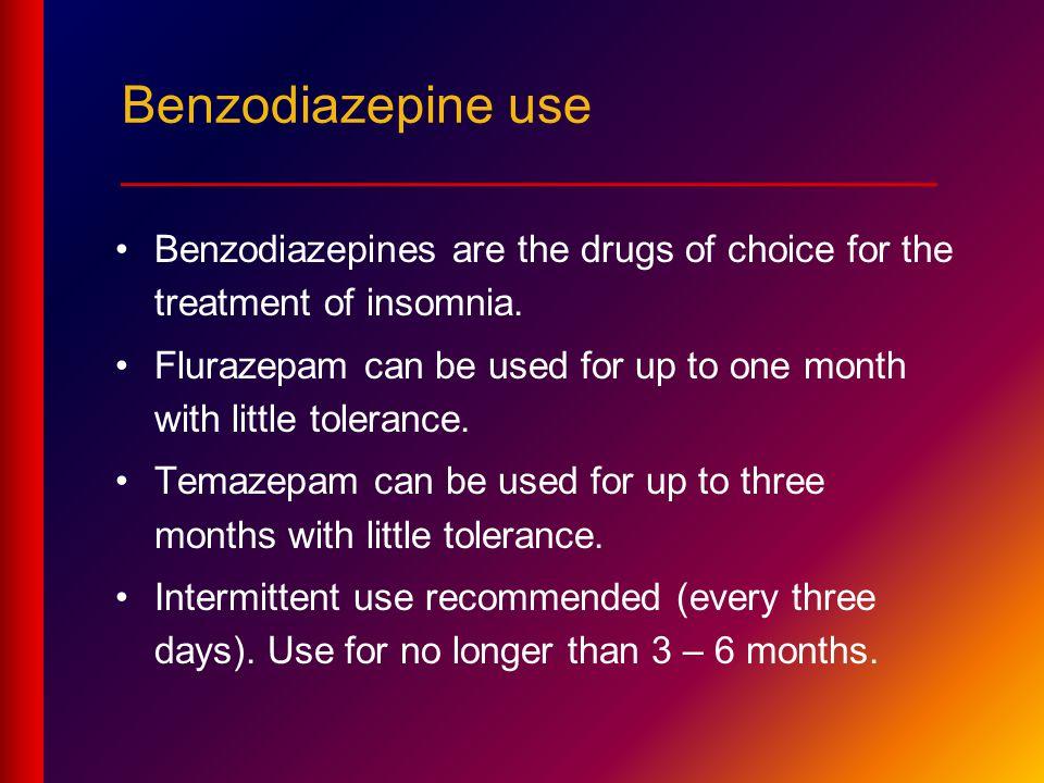 Benzodiazepine use ____________________________