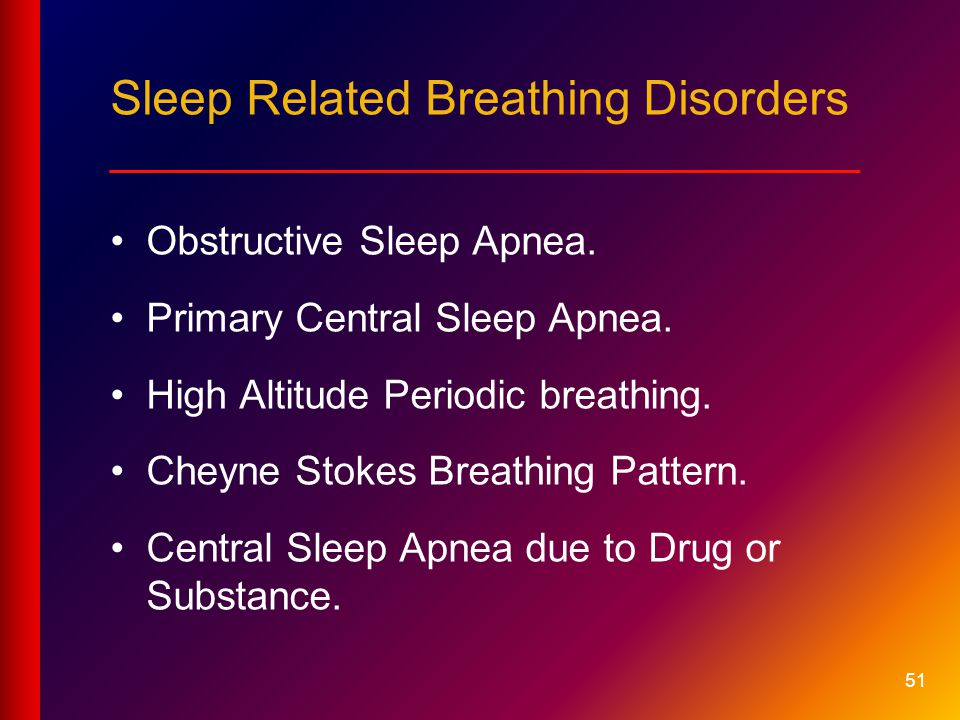 Sleep Related Breathing Disorders ____________________________