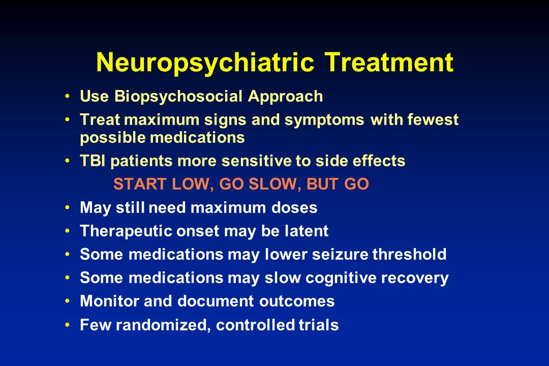 Neuropsychiatric Treatment