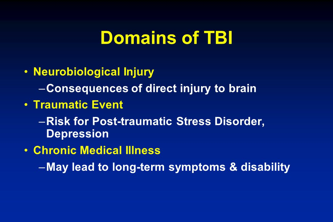 Domains of TBI Neurobiological Injury