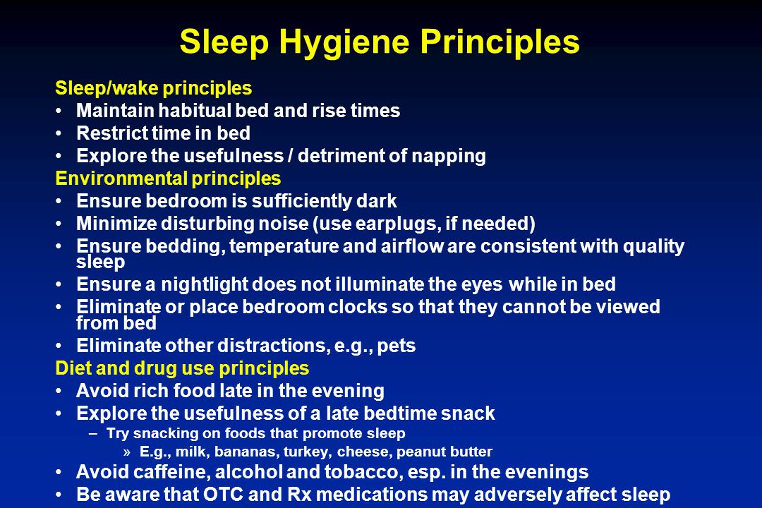 Sleep Hygiene Principles