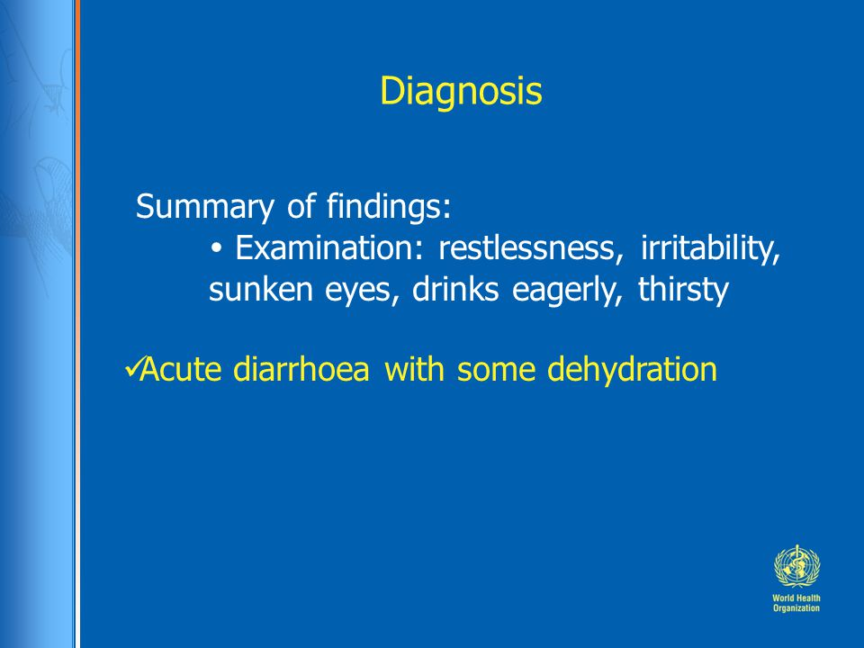 Diagnosis Summary of findings: