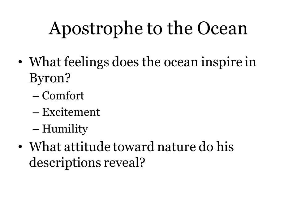 Apostrophe to the Ocean