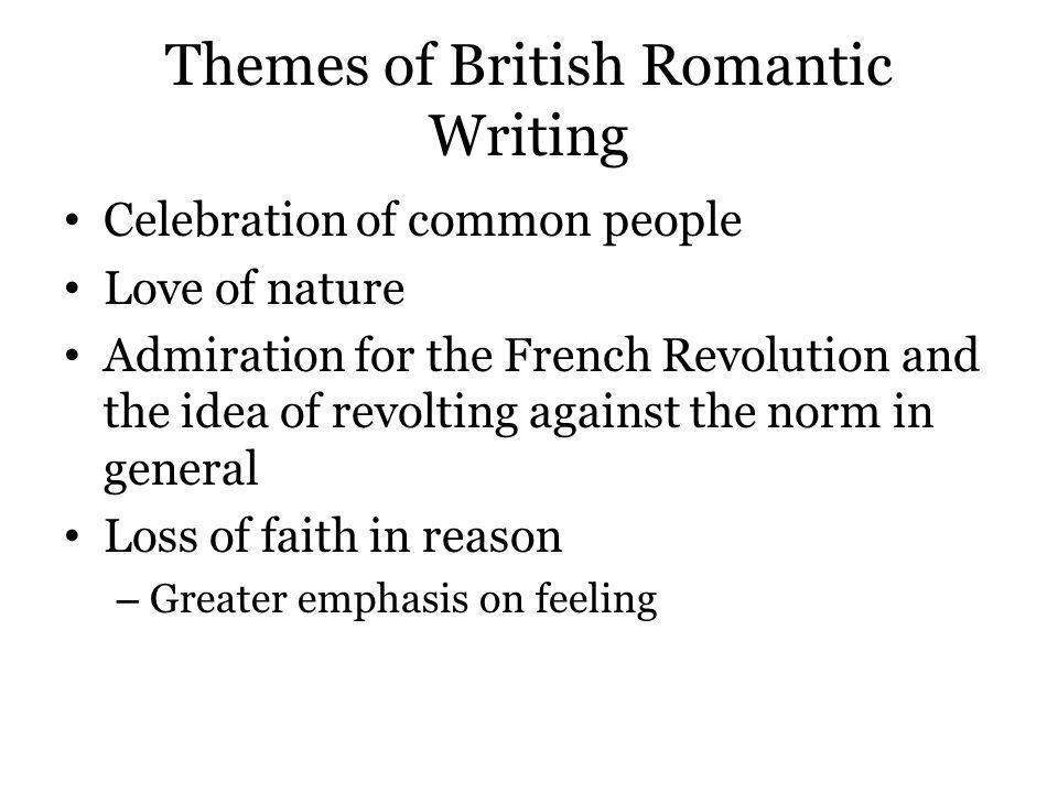 Themes of British Romantic Writing