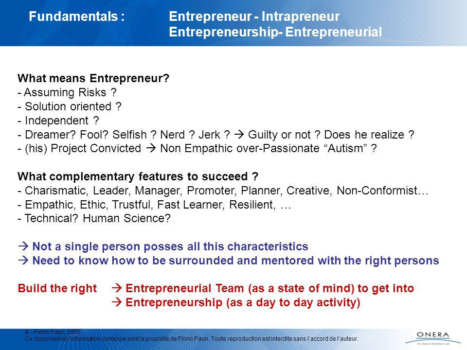 Fundamentals : Entrepreneur - Intrapreneur