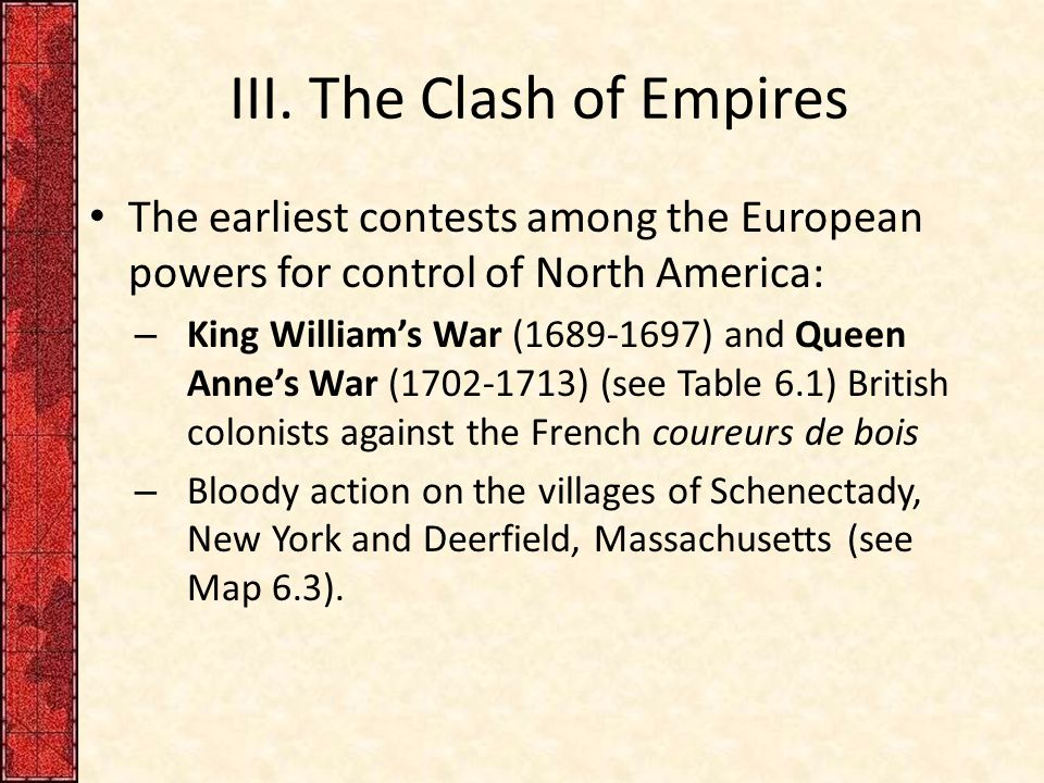 III. The Clash of Empires