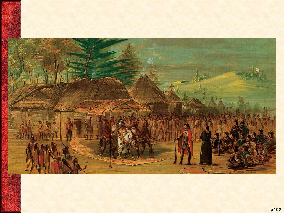 Chief of the Taensa Indians Receiving La Salle, March 20, 1682, by George Catlin,