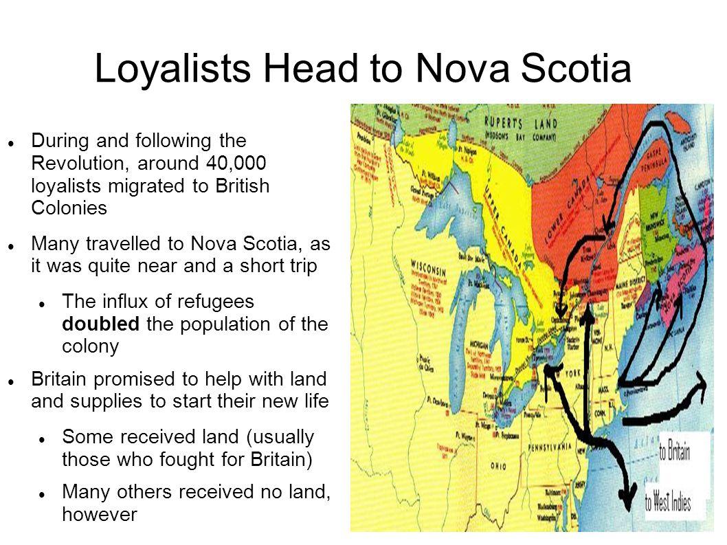 Loyalists Head to Nova Scotia