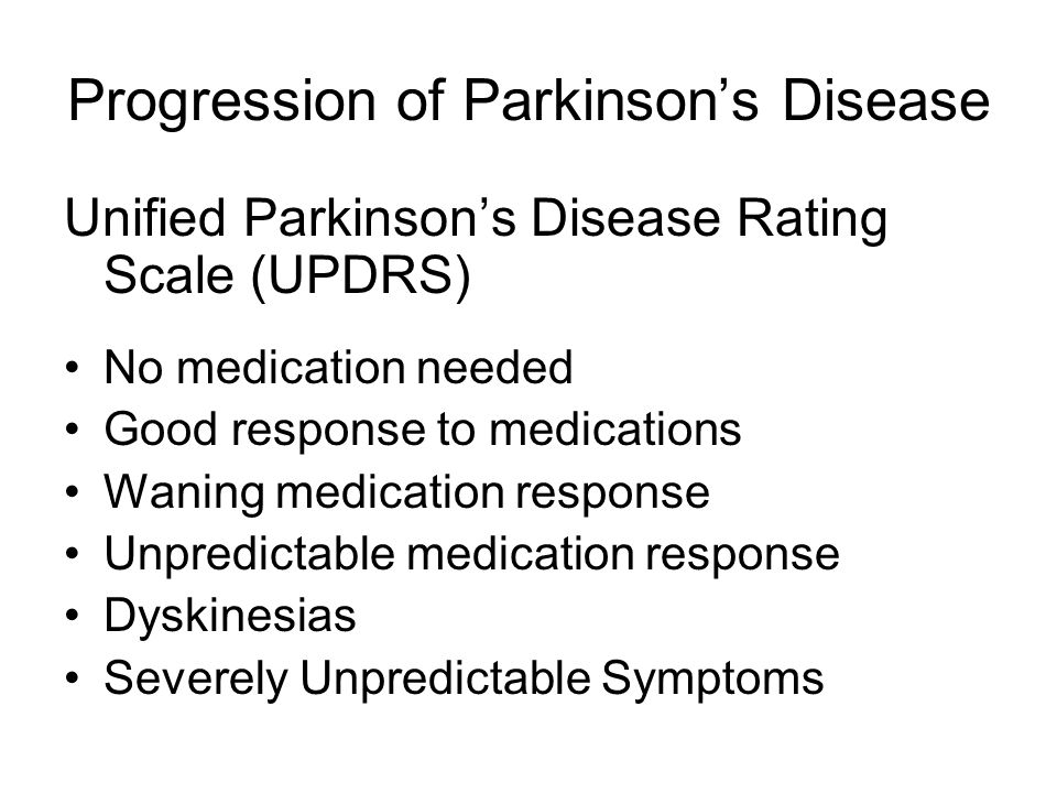 Progression of Parkinson's Disease