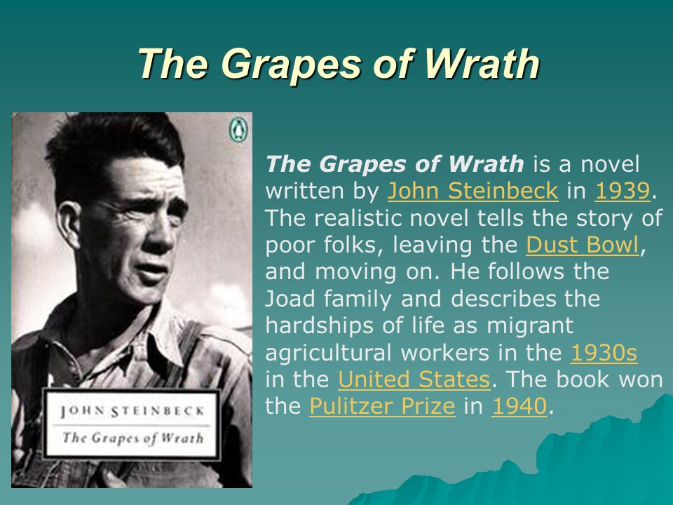grapes wrath dust bowl essay This novel is set in the time of the great depression and of the dust bowl 1 in america in the grapes of wrath steinbeck tries to expose the hardships and plights of.