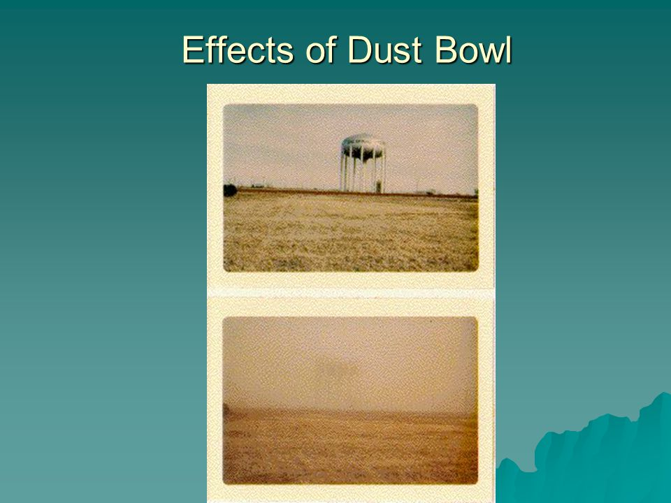 Effects of Dust Bowl