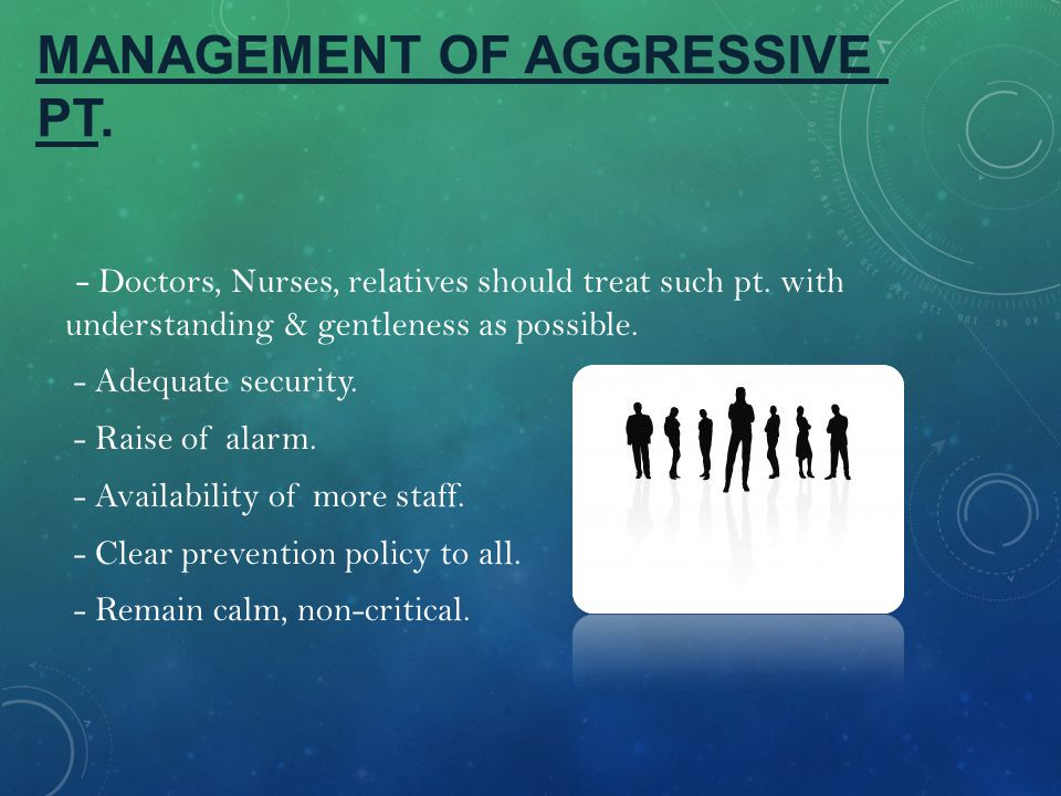 MANAGEMENT OF AGGRESSIVE PT.