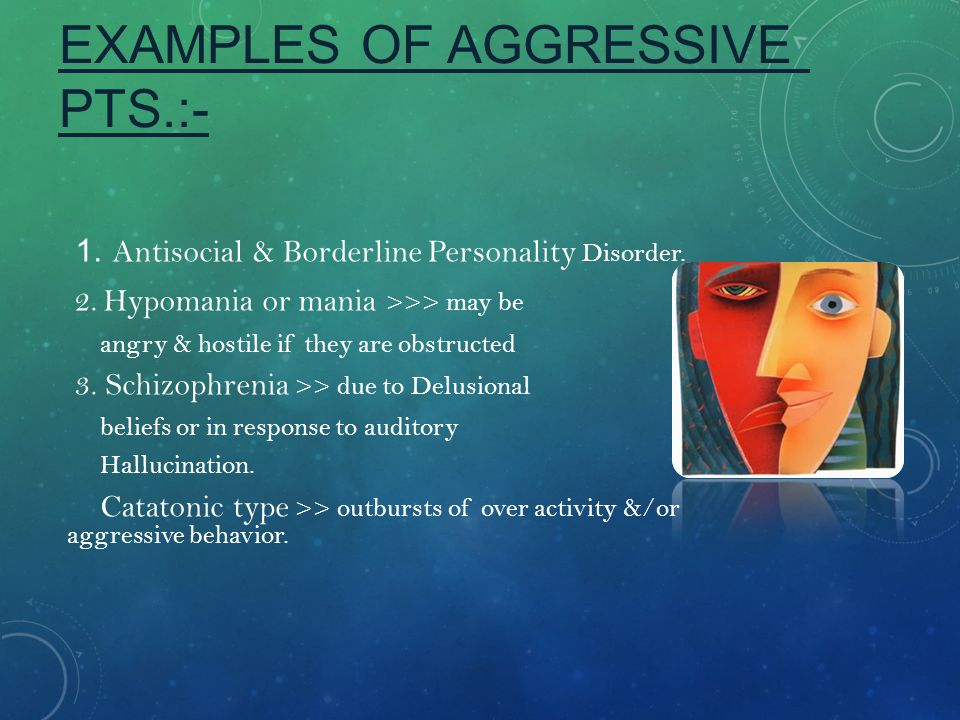 EXAMPLES OF AGGRESSIVE PTS.:-