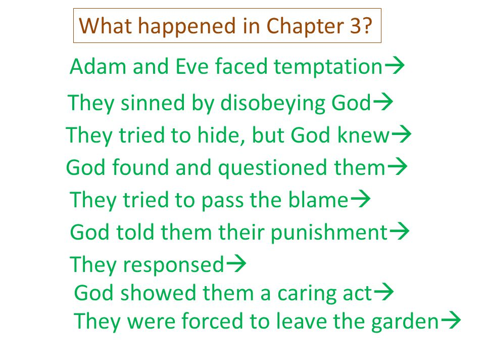 What happened in Chapter 3