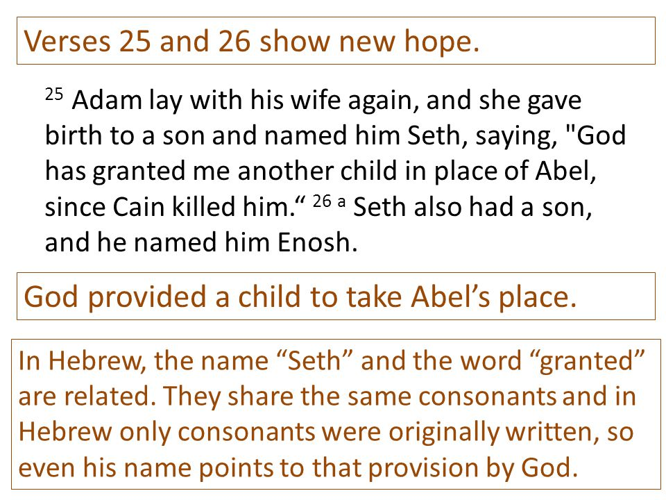 Verses 25 and 26 show new hope.