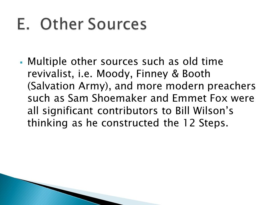 E. Other Sources