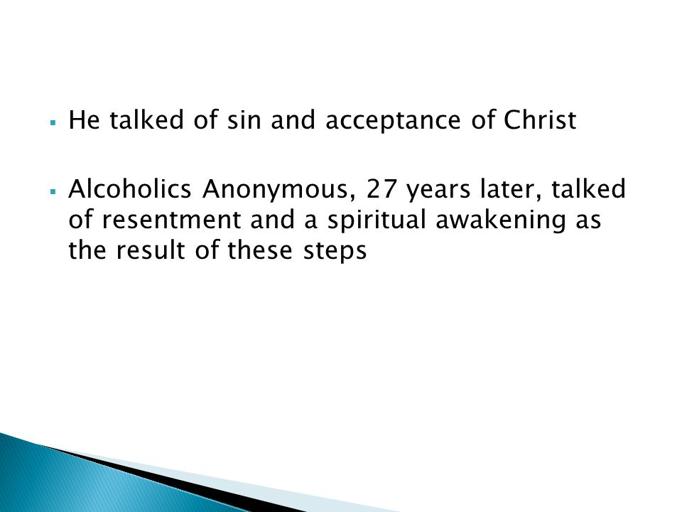 He talked of sin and acceptance of Christ