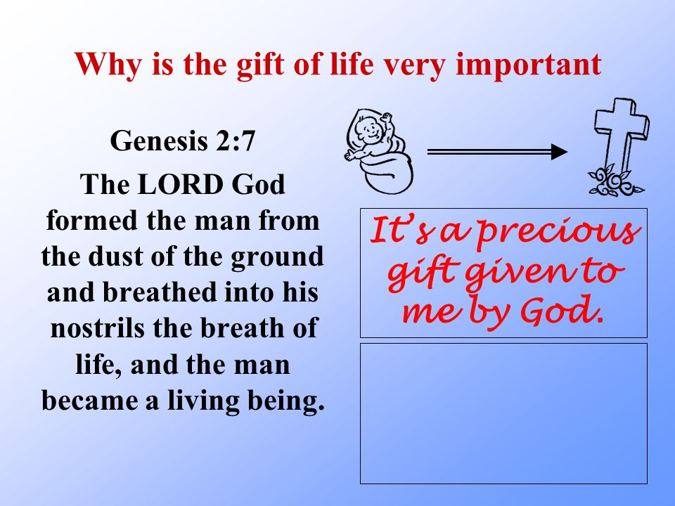 Why is the gift of life very important
