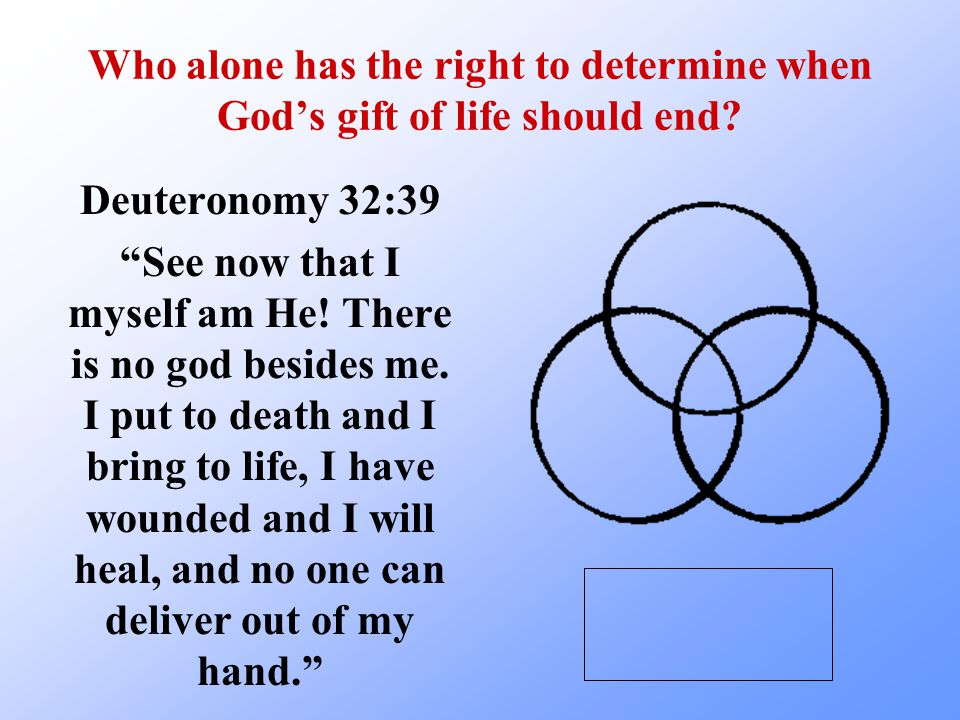 Who alone has the right to determine when God's gift of life should end