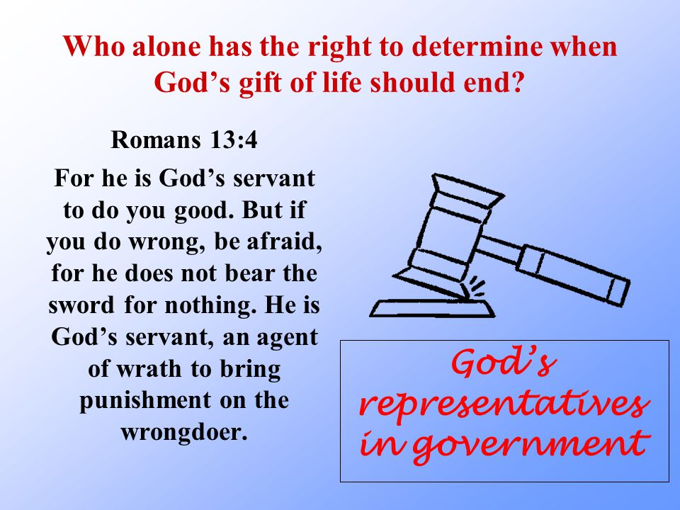 God's representatives in government