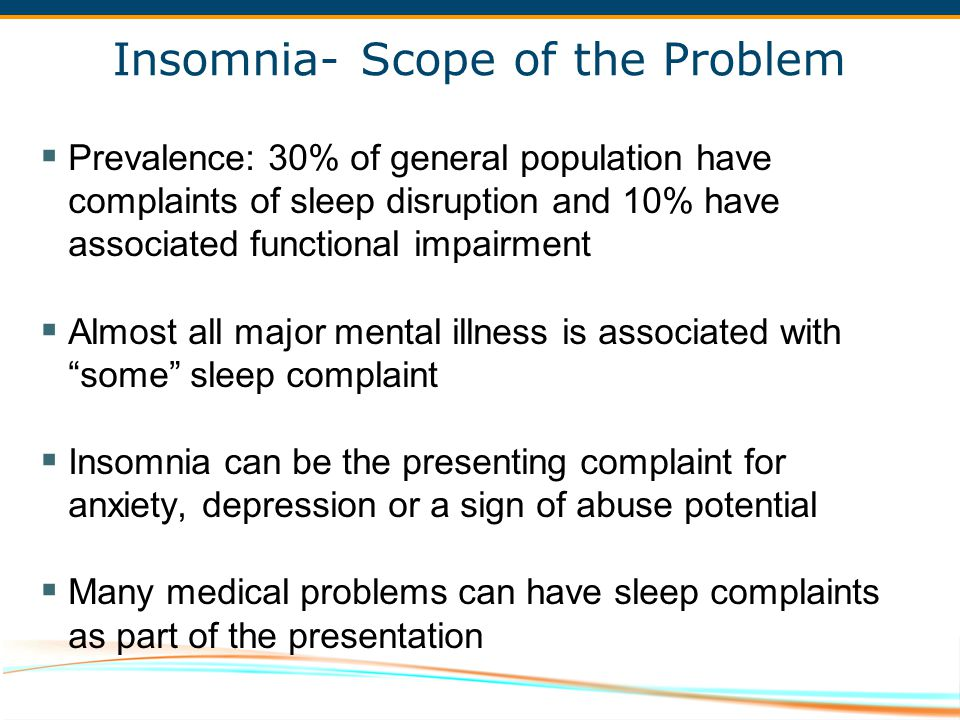 Insomnia- Scope of the Problem