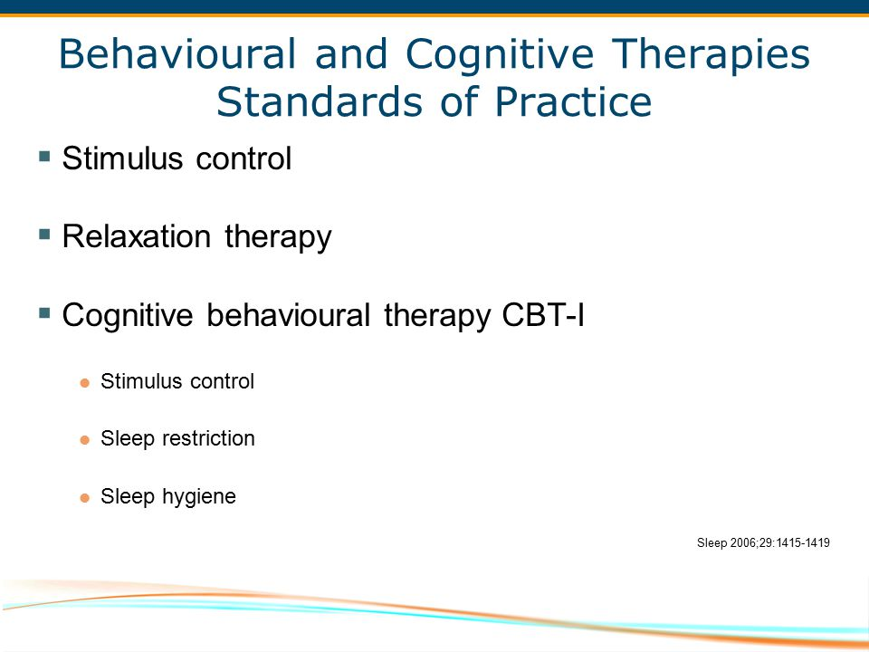 Behavioural and Cognitive Therapies Standards of Practice