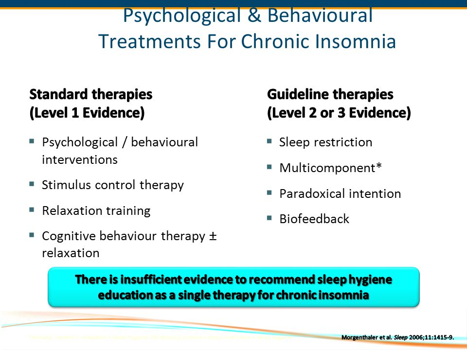 Psychological & Behavioural Treatments For Chronic Insomnia