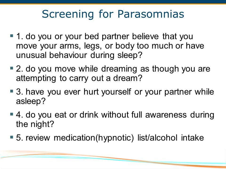 Screening for Parasomnias