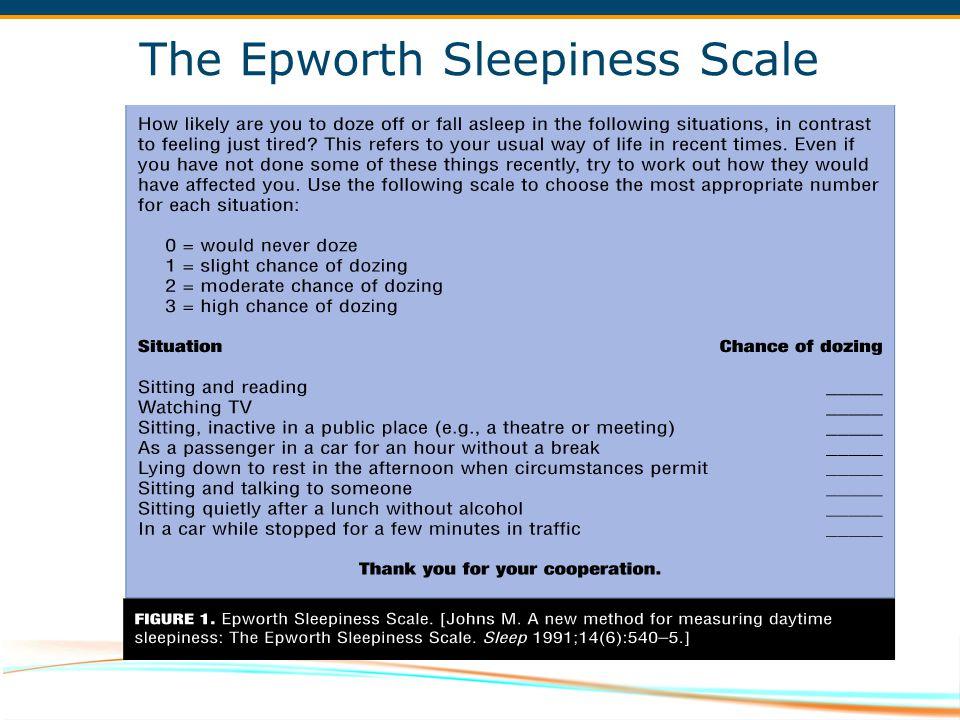 The Epworth Sleepiness Scale