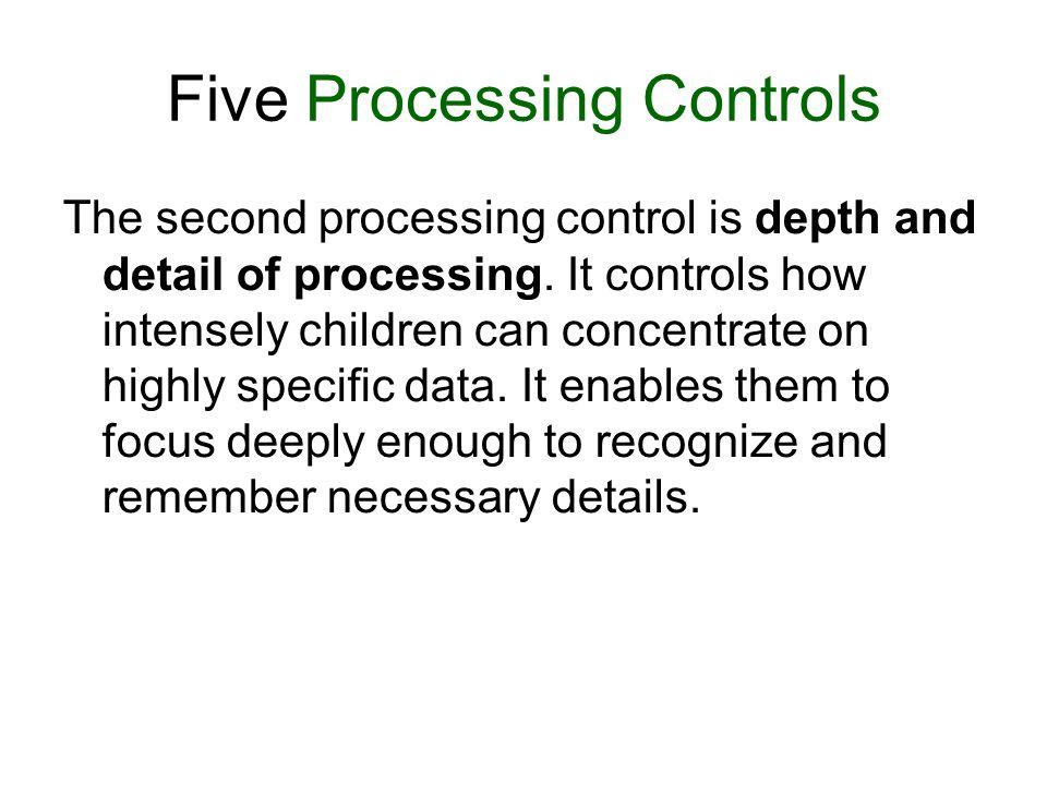 Five Processing Controls