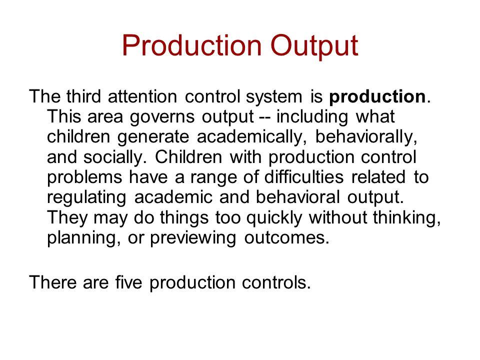 Production Output