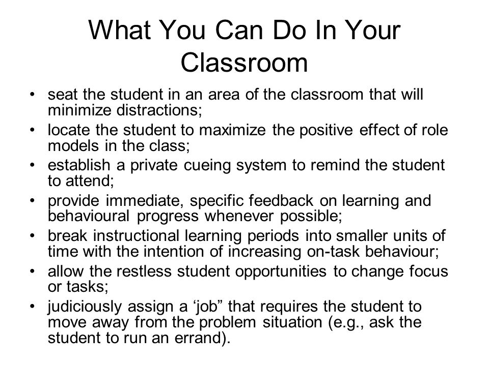 What You Can Do In Your Classroom