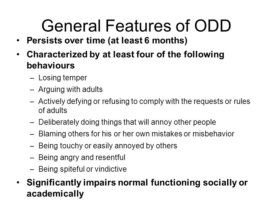 General Features of ODD